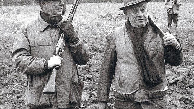 Beitz mit Verleger Franz Burda 1968