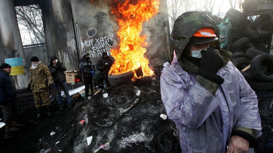 Demonstranten in Kiew: Attacke von Janukowitsch-Partei