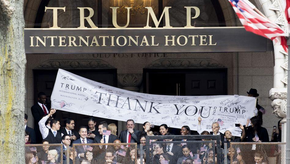 Feier im Trump International Hotel: Bedenken angesichts der Kosten
