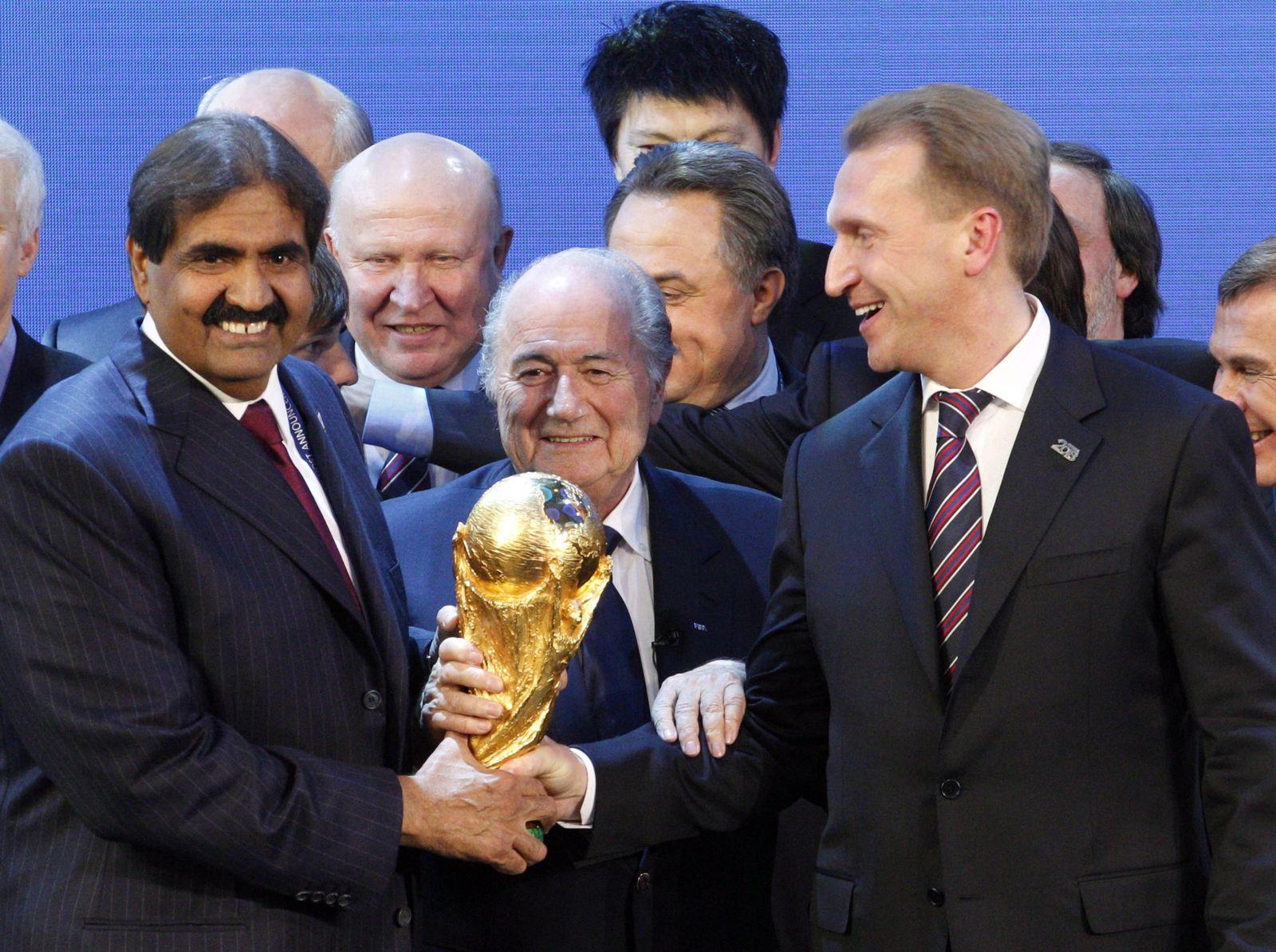 FIFA WM-Auslosung für 2018 und 2022/ Russland und Katar/ 2010