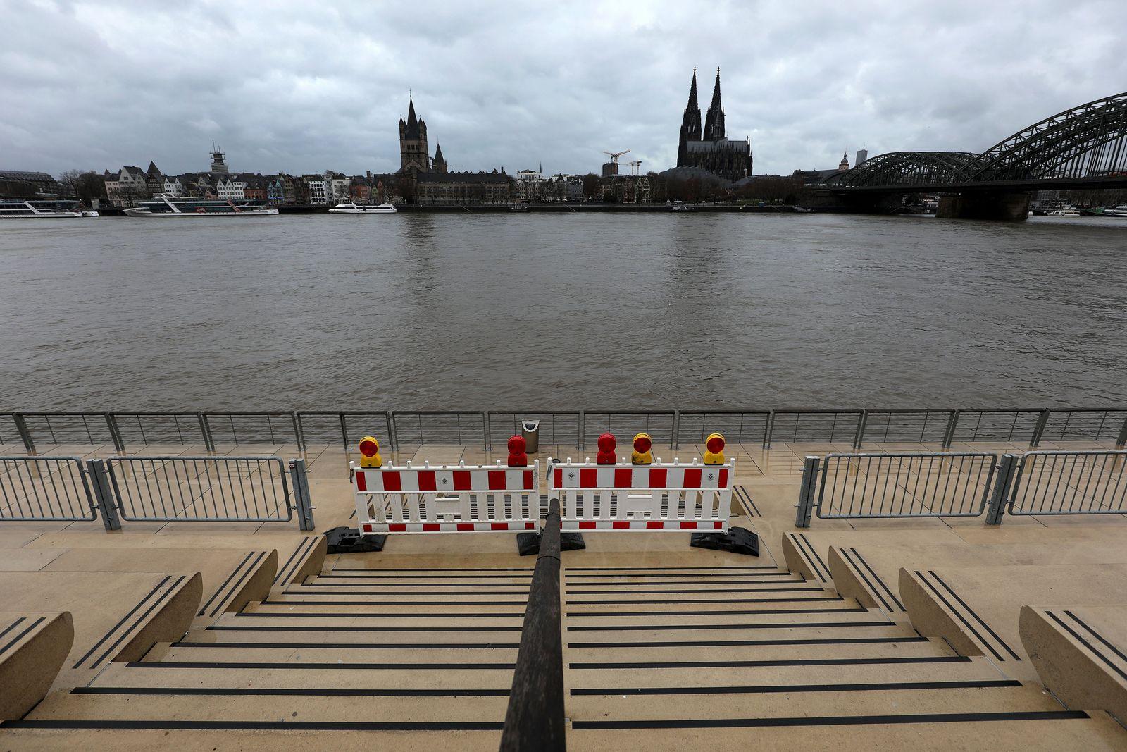 Rheinpegel in Köln