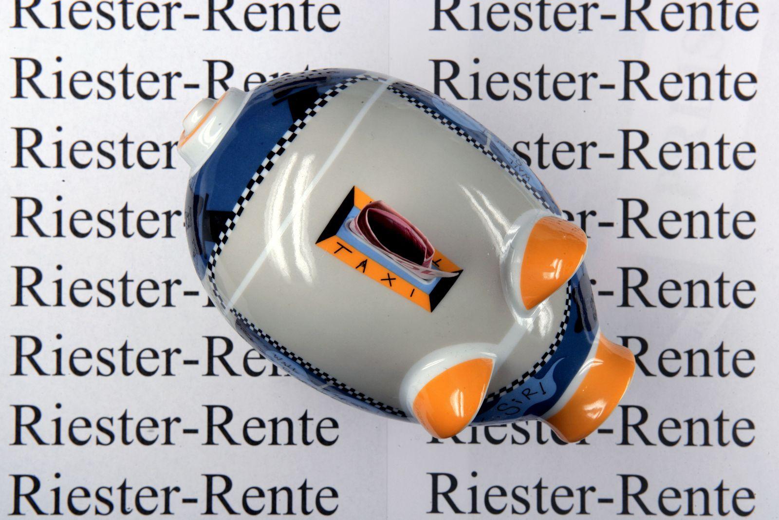 Riester-Rente / Sparschwein
