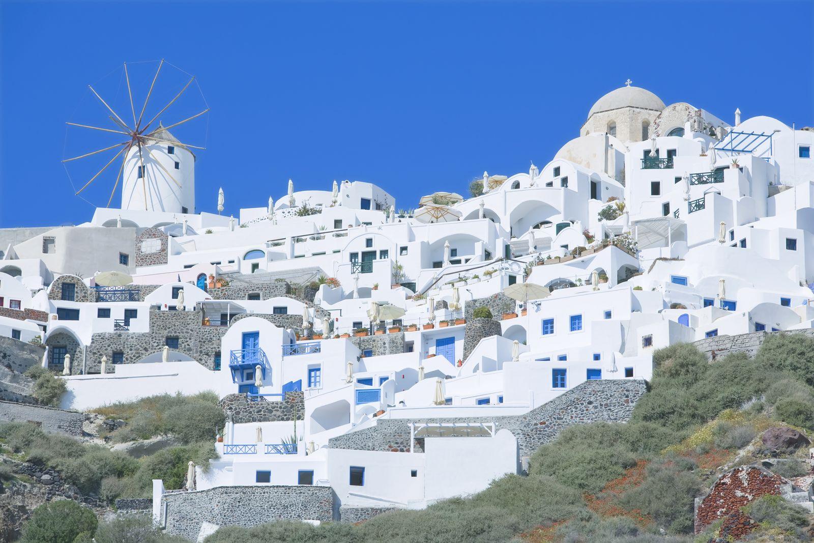 NICHT MEHR VERWENDEN! - Griechenland / Santorini / Häuser