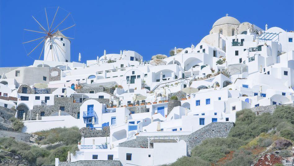 Häuser auf dem griechischen Archipel Santorin: Vorlage für klimafreundlichen Anstrich?