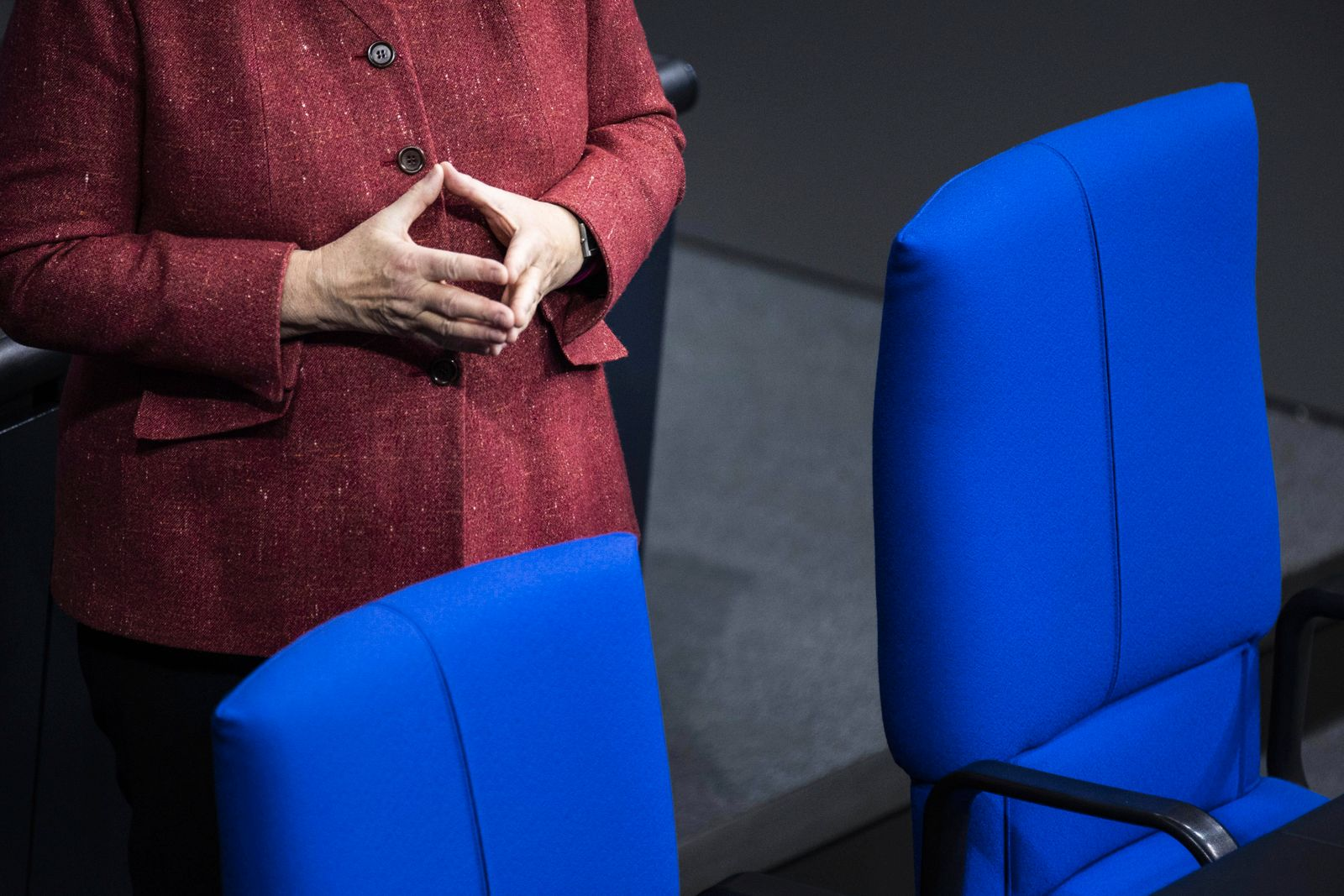 News Bilder des Tages Angela Merkel, Bundeskanzlerin, aufgenommen im Rahmen der Generaldebatte zum Bundeshaushalt im Deu