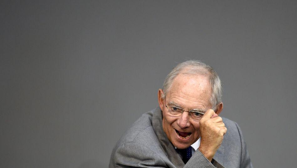 Finanzminister Schäuble: Wichtige Kommunikation auf besonders gesicherten Kanälen