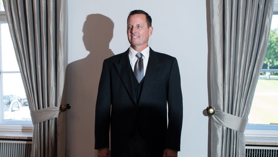 Richard Grenell 2018 bei seiner Akkreditierung durch Bundespräsident Frank-Walter Steinmeier im Schloss Bellevue