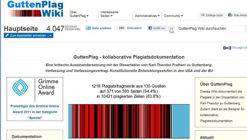 """Ausgezeichnetes """"GuttenPlag Wiki"""": Zitate ohne Anführungszeichen"""