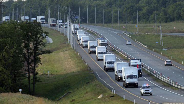 Russischer Konvoi für Ukraine: 280 Lastwagen, keine Durchfahrt