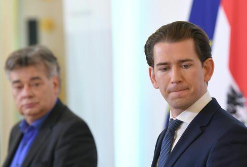 Österreichs Kanzler Kurz (r.) und Vize Kogler: Corona-Tests negativ
