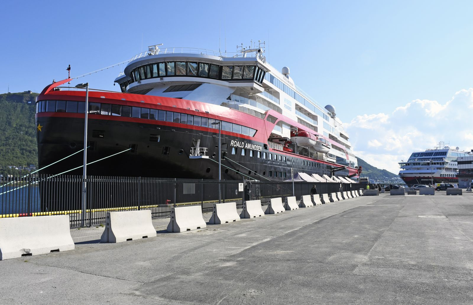Covid-19 on the Hurtigruten ship Roald Amundsen, Tromso, Norway - 31 Jul 2020