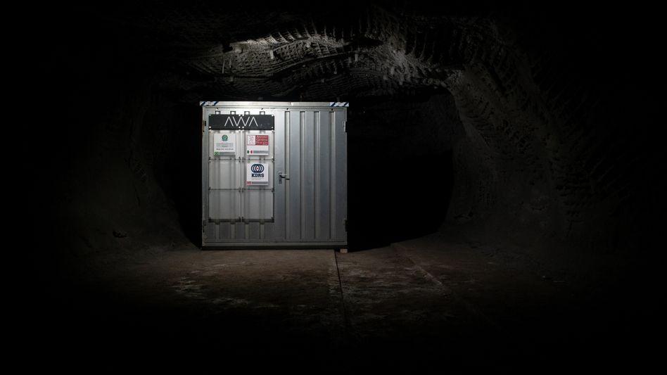 Softwarelager: In einem Container in 250 Meter Tiefe wird der Code für die Nachwelt aufbewahrt