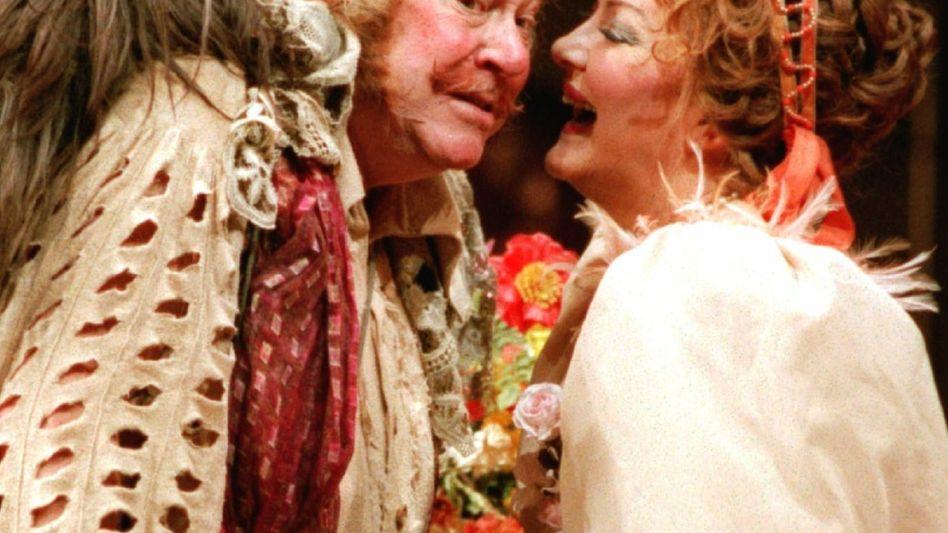 """Ingvar Wixell 1995 als Falstaff (mit Karan Armstrong): """"Unwiederbringliche Auftritte"""""""