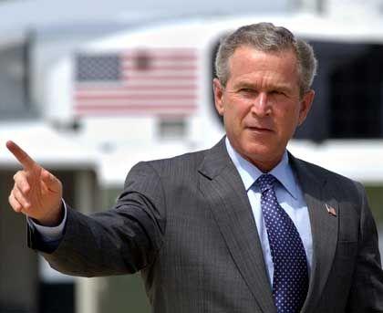 """Wahlkämpfer Bush: """"Die schlechten Nachrichten stellen sie als Schuld der anderen hin"""""""
