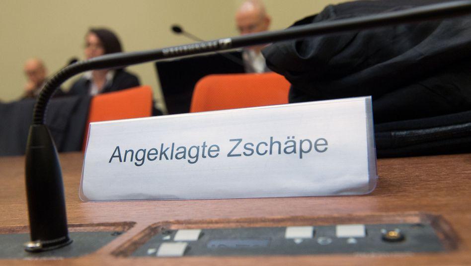 Gerichtssaal in München (Archiv): 123. Verhandlungstag im NSU-Prozess