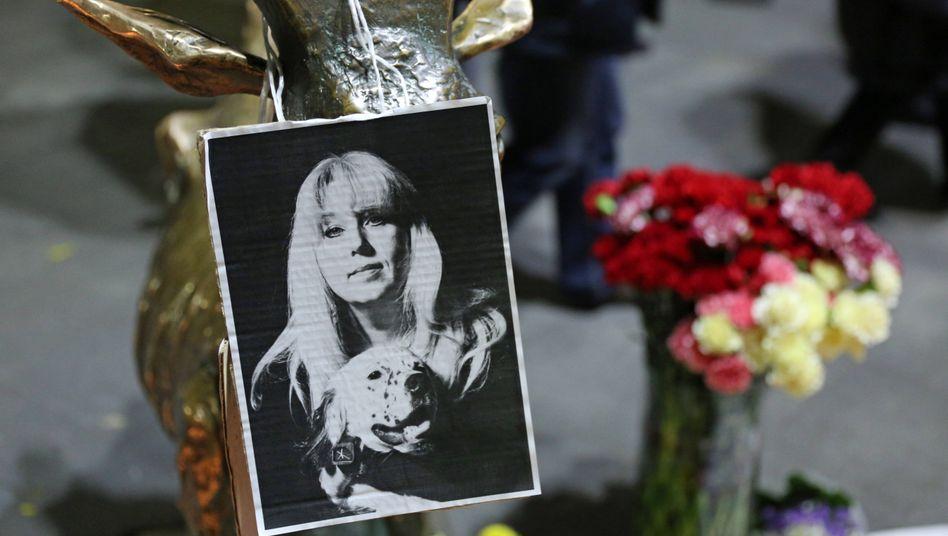 Gedenken an Irina Slawina im Zentrum von Nischnij Nowgorod
