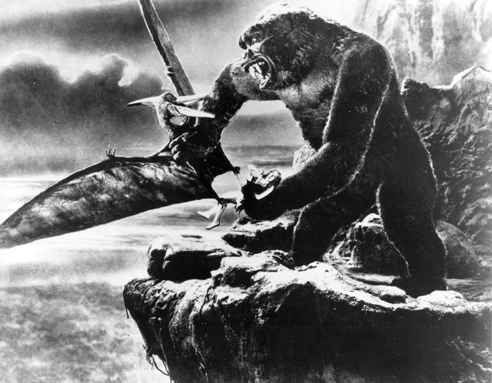 Pteradactylus im Kampf mit King Kong: Prototypischer Flugsaurier, wie man ihn sich lange vorstellte