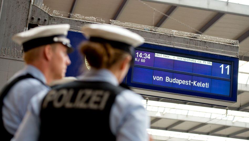 Polizei am Hauptbahnhof München