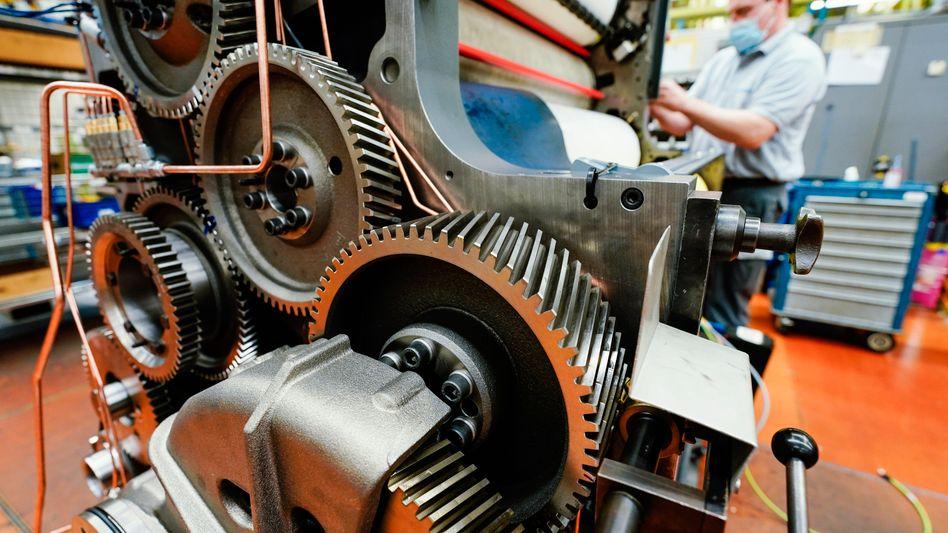 Fertigung bei Heidelberger Druckmaschinen