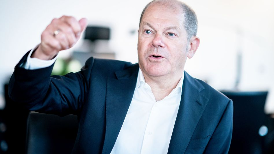 """Finanzminister Olaf Scholz (SPD): """"Unglaubliche, schicksalhafte Herausforderung"""""""