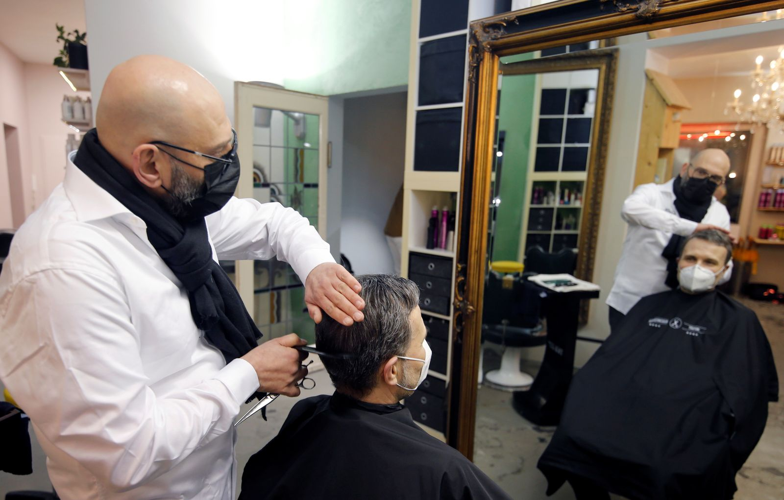 Hair dressers are allowed to re-open in Germany