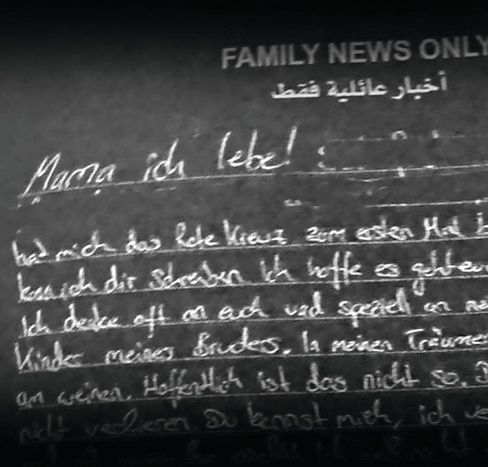 A letter sent by Emre from his captivity. He is being held by the Kurds.