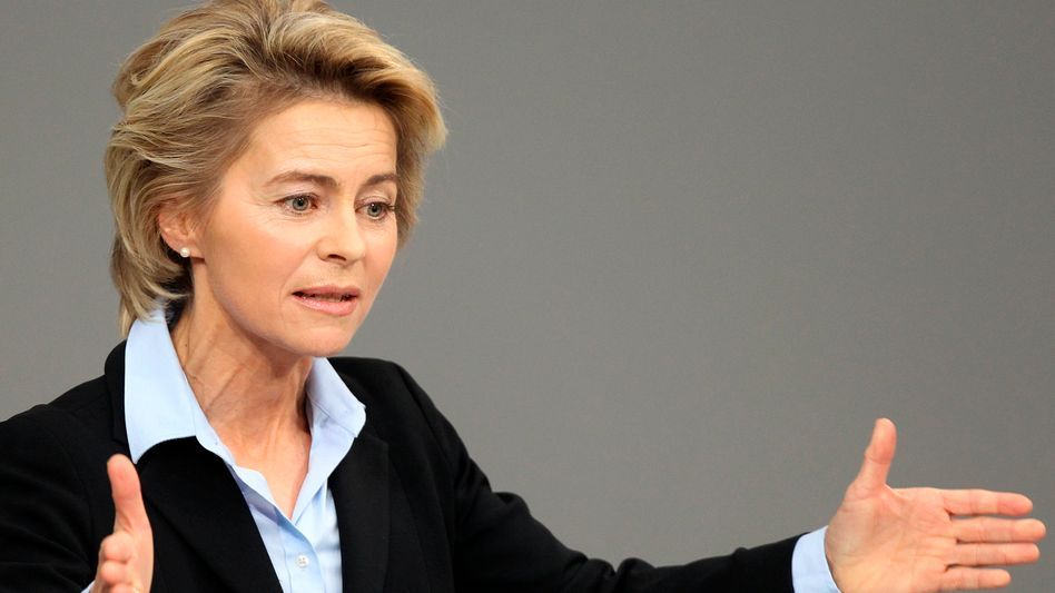 """Ursula von der Leyen, 52, has been a member of Chancellor Angela Merkel's cabinet since 2005. """"Germany will have to find its own solution."""""""