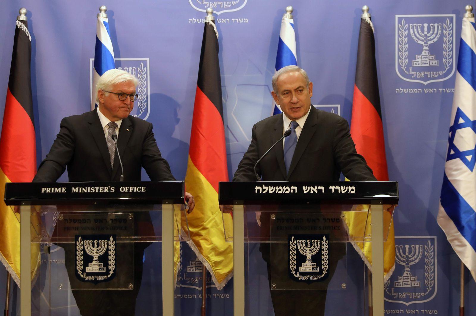 ISRAEL/ Steinmeier/ Netanyahu