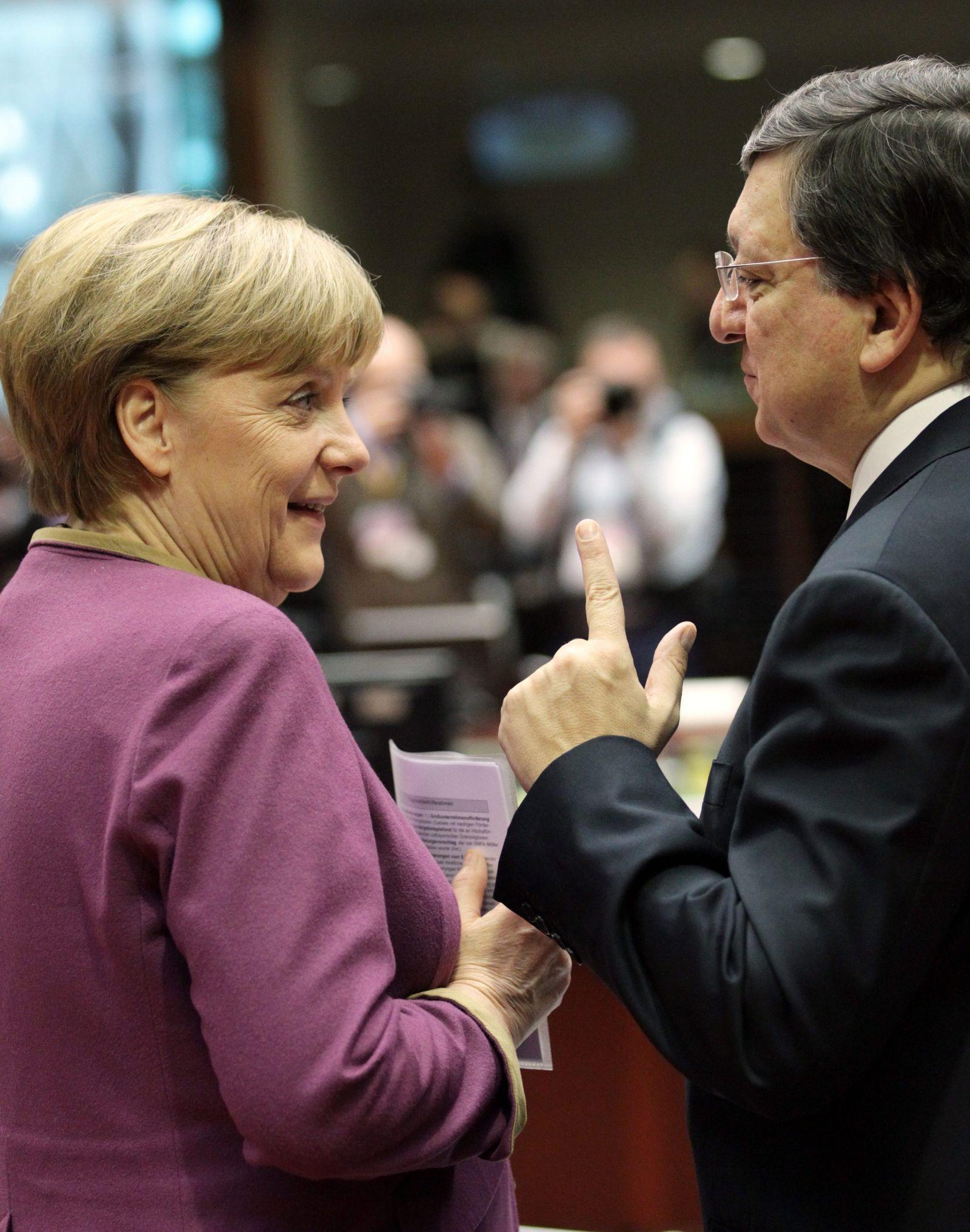 EU-Gipfel / Brüssel / Merkel / Barroso
