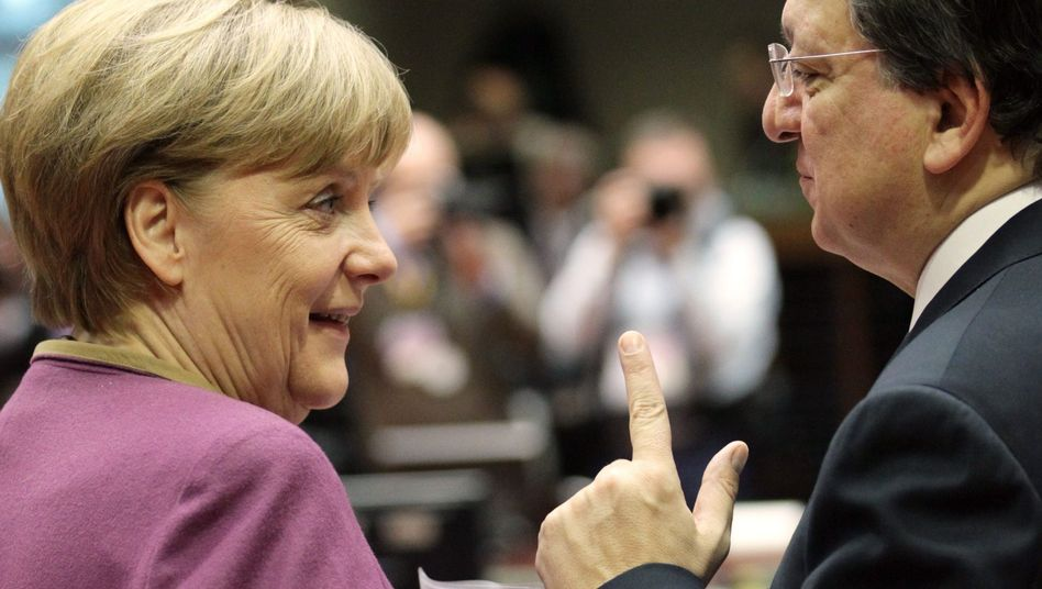 Bundeskanzlerin Merkel, EU-Kommissionspräsident Barroso: Kein Aufweichen akzeptieren