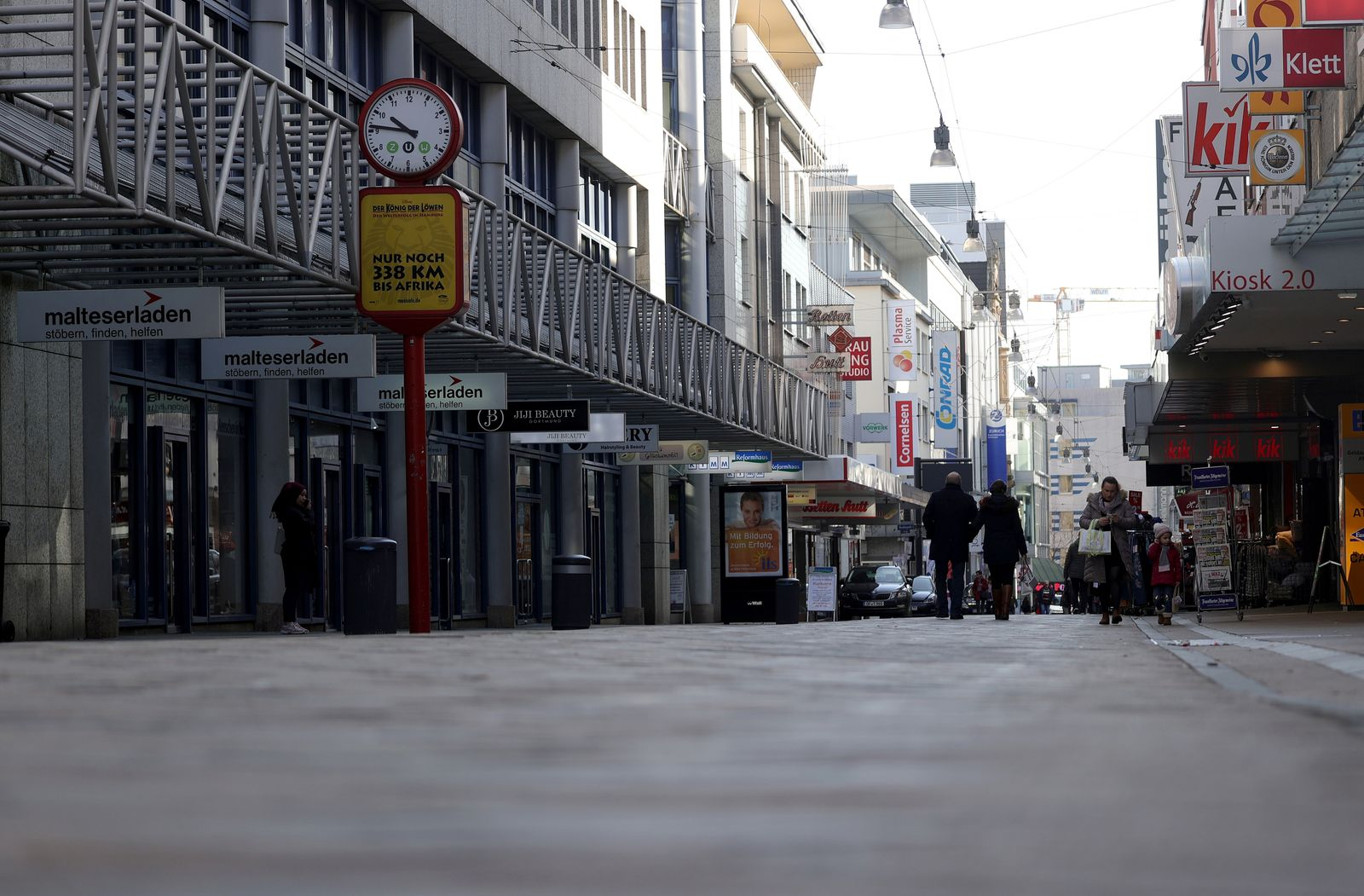 Shopping street during the Coronavirus crisis, Germany - 16 Mar 2020