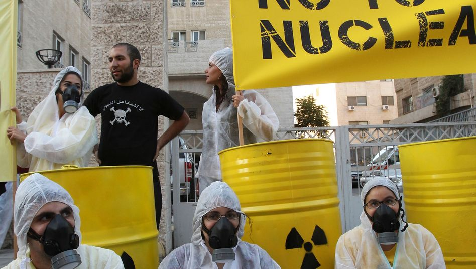 "Atomkraftgegner in Amman (Juni 2011): ""Erbarmen mit uns"""