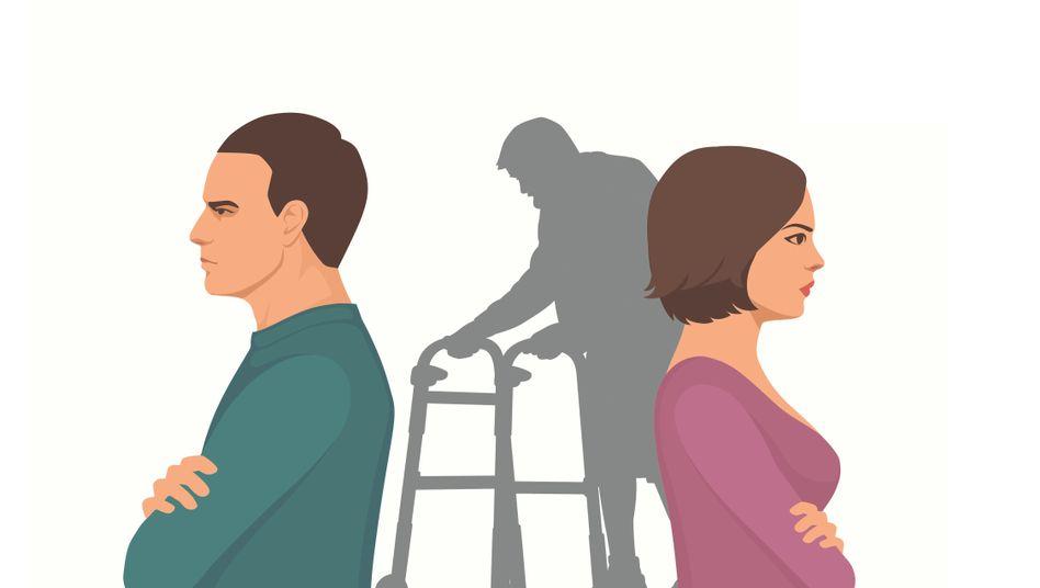 Der Eltern werden alt - wer kümmert sich dann?
