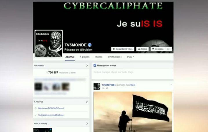 Facebook-Seite von TV5Monde nach Hackerangriff im April 2015
