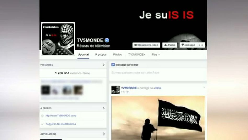 Gekaperter Facebook-Account von TV 5 Monde (am 9. April): Neue Erkenntnisse über mutmaßliche Täter