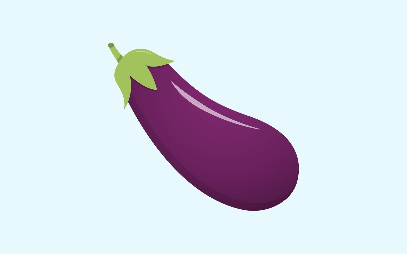 Fresh Eggplant vegetable isolated illustration Icon