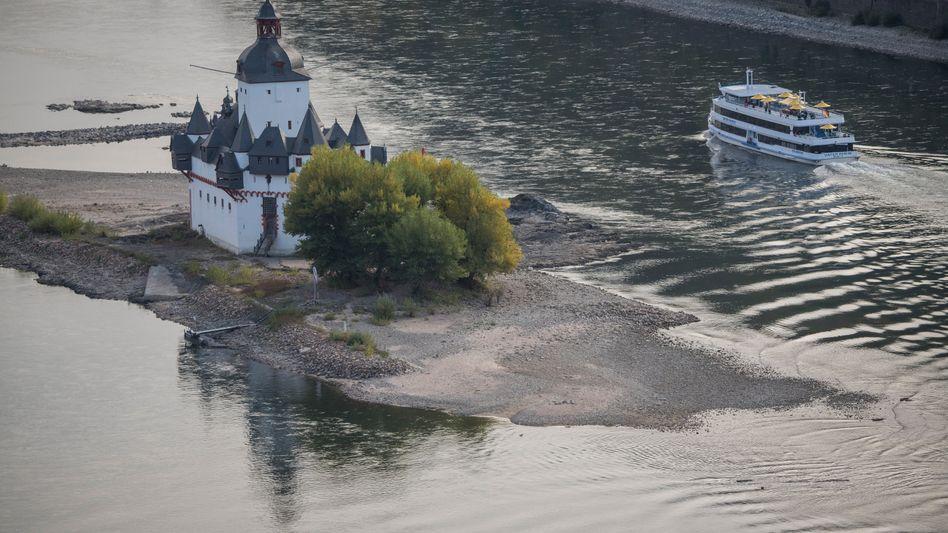 Rhein bei Kaub in Rheinland-Pfalz