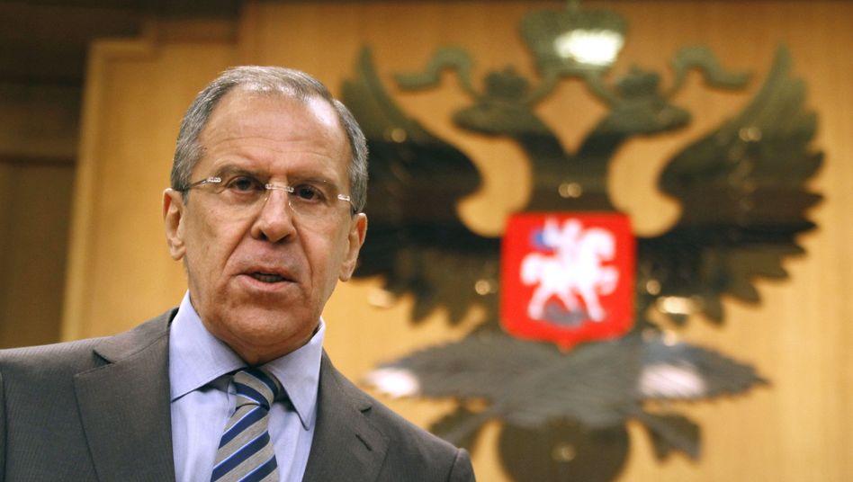 Russlands Außenminister Lawrow: Diplomatische Lösung in Syrien
