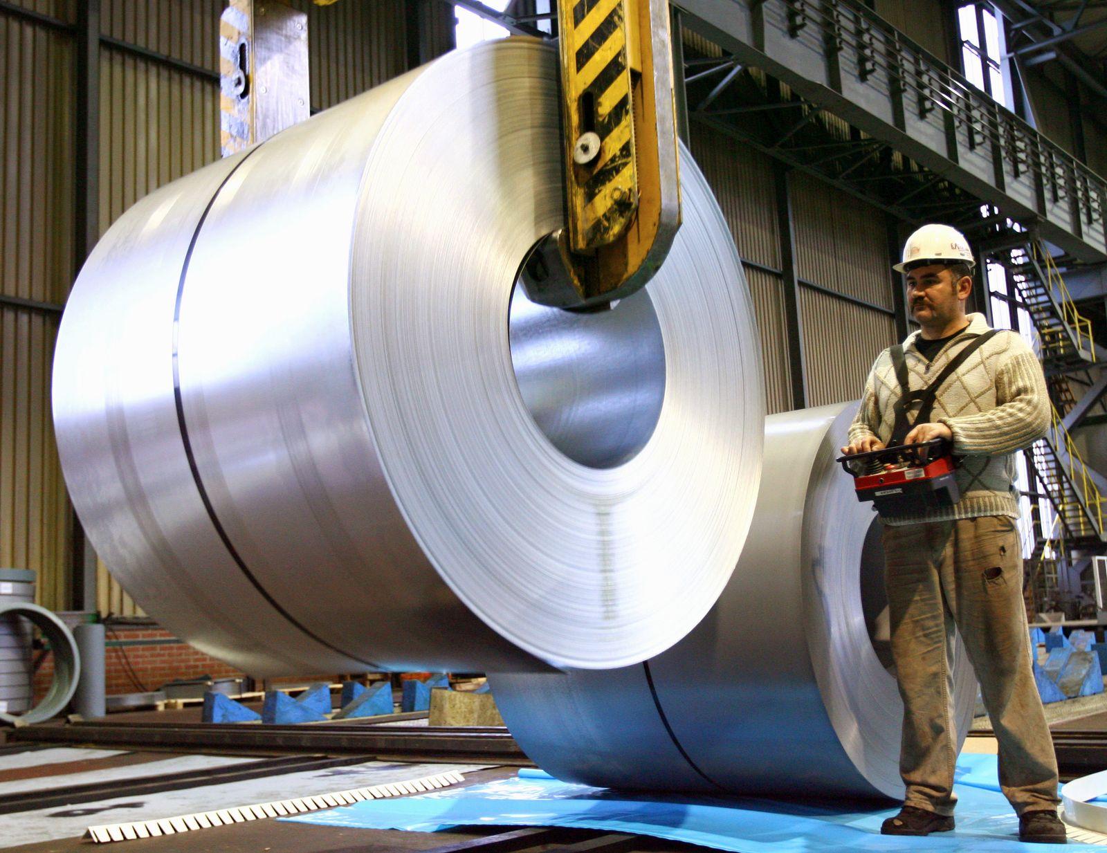 ThyssenKrupp Stahlarbeiter