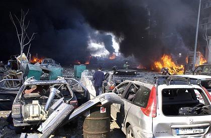 Former Lebanese Prims Minister Rafik Hariri was killed in a car bomb attack in Beirut on Feb. 14.