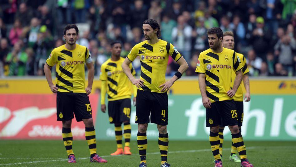 Enttäuschte Dortmunder: In allen Belangen unterlegen