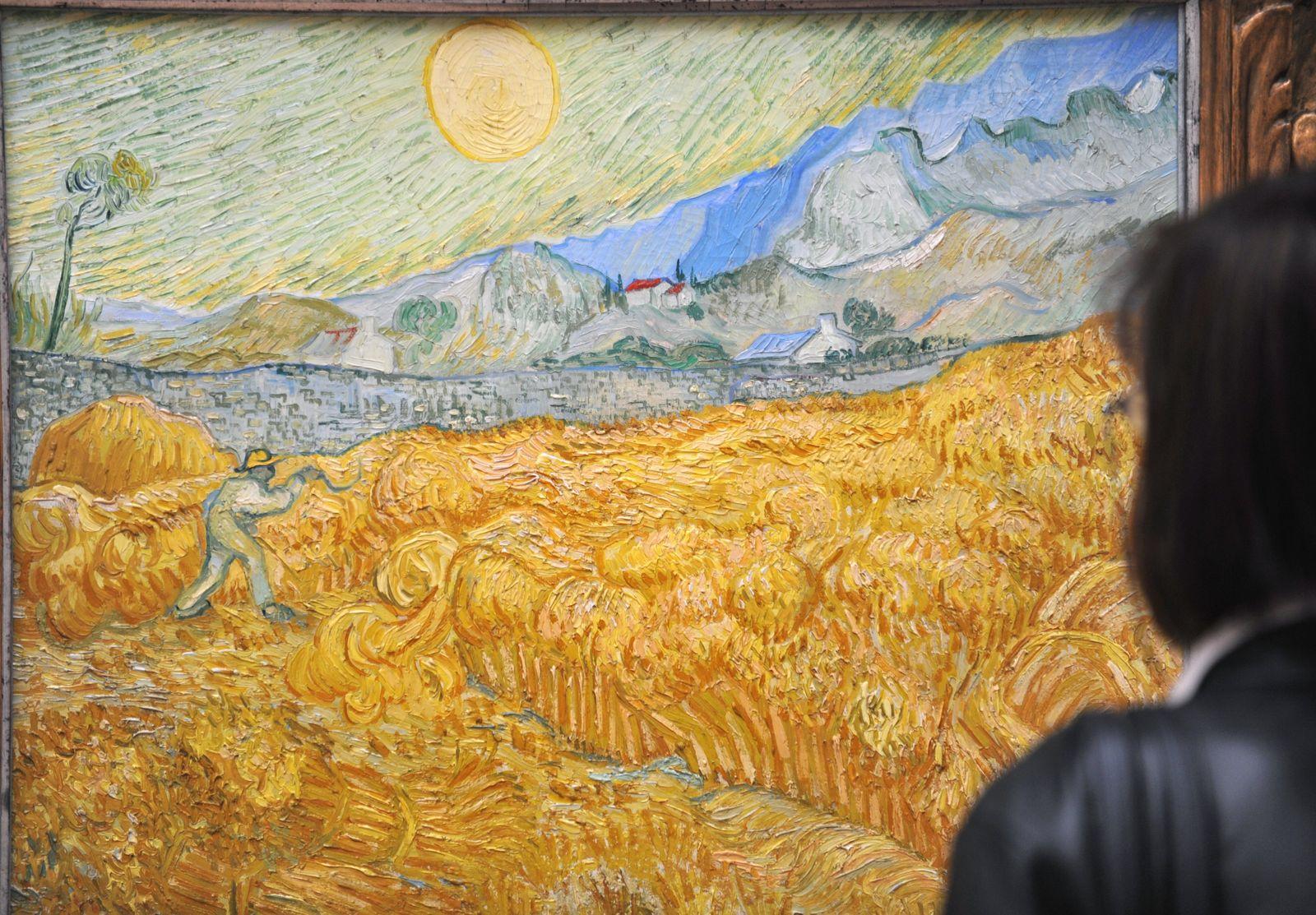 Van-Gogh-Gemälde / Farbverfall
