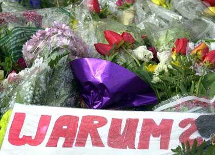 Blumen vor dem Erfurter Gymnasium