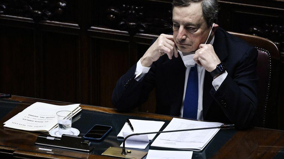 Draghi vor der Vertrauensabstimmung im Parlament: »Wir haben diese Lösung seit einem Jahr herbeigesehnt«