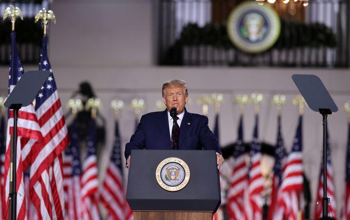 Fiktive Version Amerikas: Trump am Donnerstagabend