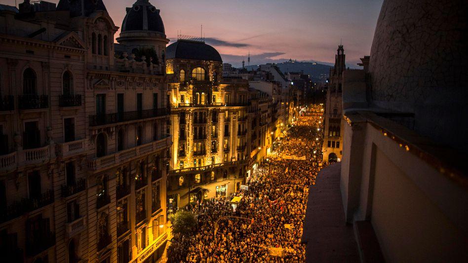 Demonstration in Barcelona (Archiv)
