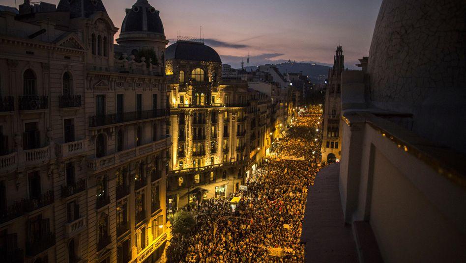Demonstranten in Barcelona (2017)