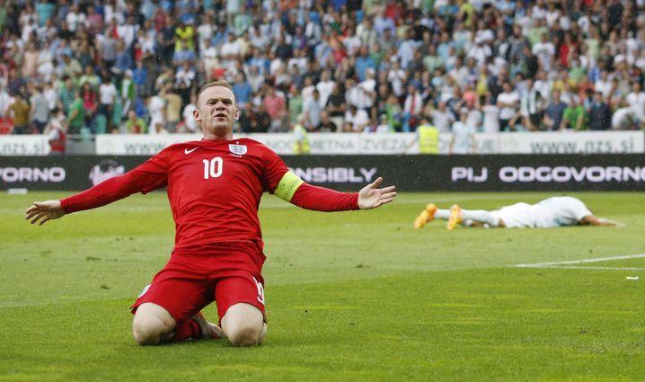Englands Rooney: Auf dem Weg zum Rekordtorschützen