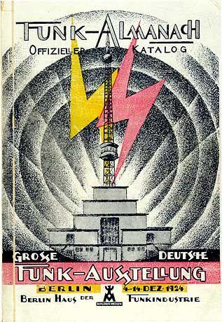 """Werbeplakat zur ersten """"Großen Deutschen Funkausstellung"""", die 1924 in Berlin stattfand"""