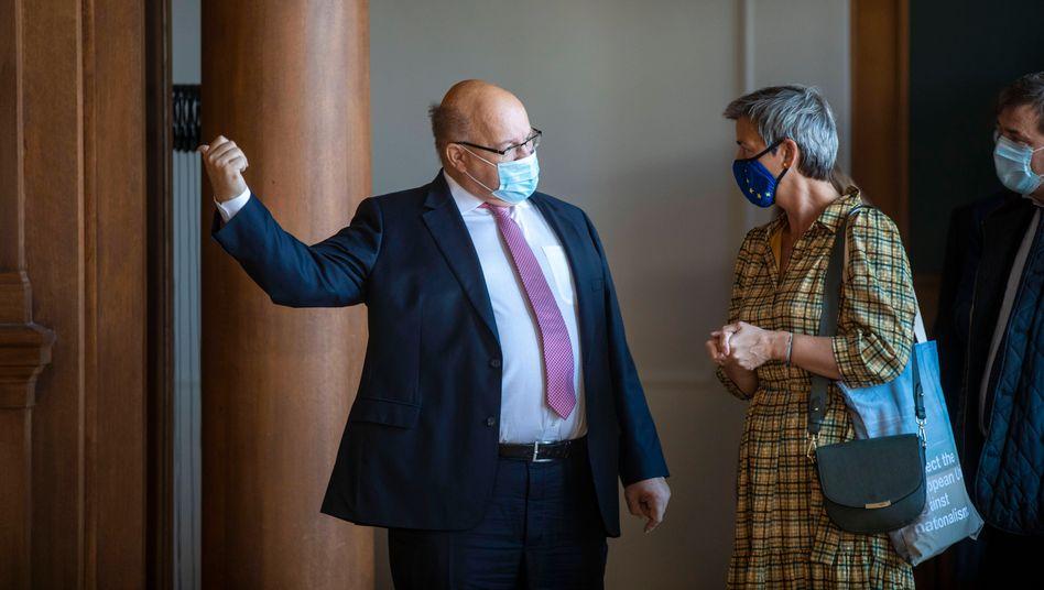 Politiker Altmaier, Vestager: Die Dänin ist zu keinen Deals bereit